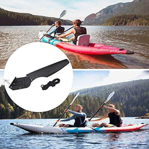 Borlai Kunststoff-Kits für Wasserfahrzeuge, Kanu, Kajak, Angeln, Boot, Ruder, Fußrichtungssteuerung.
