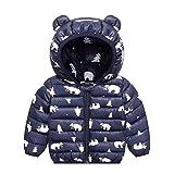 PROTAURI Baby Jacke Mantel Kinder Winterjacke Ohr mit Kapuze Jacke Warm Gepolstert Leicht 110cm Jungen Mädchen Outfits