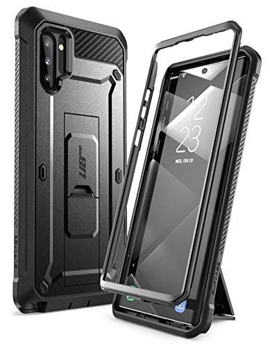 SUPCASE Coque pour Samsung Galaxy Note 10 Avec Béquille + Clip Ceinture Sans Protecteur d'Ecran [Unicorn Beetle Pro] Protection Robuste Antichoc (Noir)