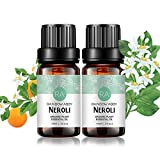 2-Pack Neroli Essential Oil 100% Pure Oganic Plant Natrual Flower Essential Oil for Diffuser Message Skin Care Sleep - 10ML