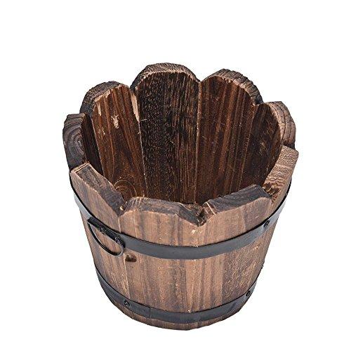 WOOAI - Piccola vasetto di Fiori in Legno per Decorazione di Matrimonio, Fiore