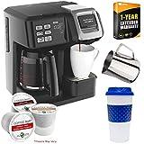 Hamilton Beach 49976 FlexBrew 2-Way Coffee Maker (Black) Bundle with Deco Gear Kitchen & Single Serve Pods