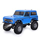RGT 1/10 RC Trucks 4x4 RC Crawlers 4wd Off Road Rock Crawler RC Car with Lights Electric Waterproof Rock Cruiser RC-4 136100V2 Hobby Toy for Kids (Blue)