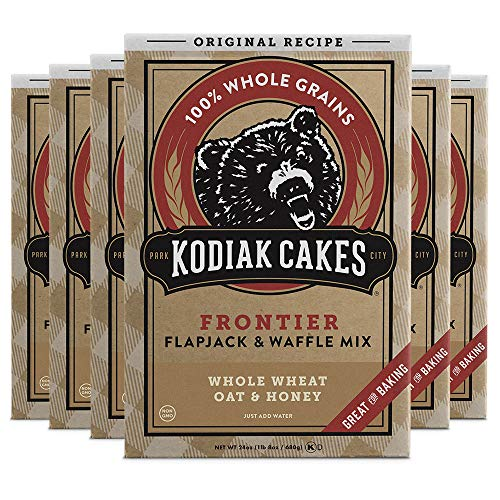 Kodiak Cakes Frontier Pancake, Flapjack and Waffle Mix, Original, 24 Ounce (Pack of 6)