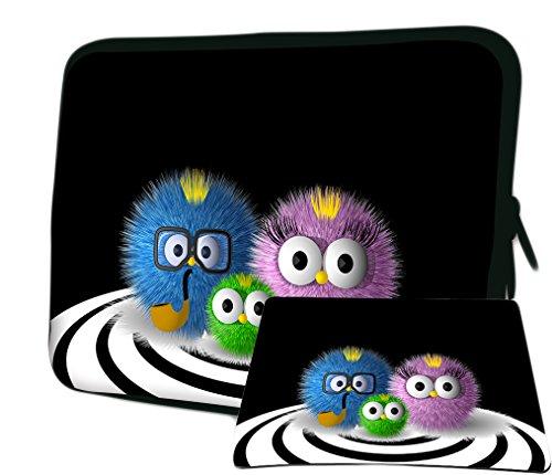 LUXBURG 12,1 Pulgadas Bolso con diseño, Funda para Ordenador Portátil Tablet. Además Alfombrilla de ratón Libre! para Apple, Acer, ASUS, Chromebook, DELL, HP, Lenovo, Samsung, Sony, Toshiba Laptop
