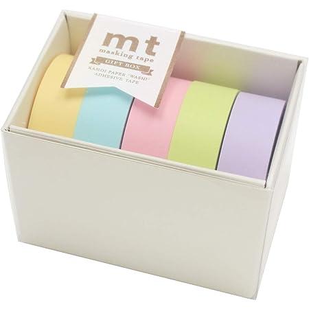 カモ井加工紙 マスキングテープ mt ギフトボックス パステル2 15mm×10m 5巻 MT05G007