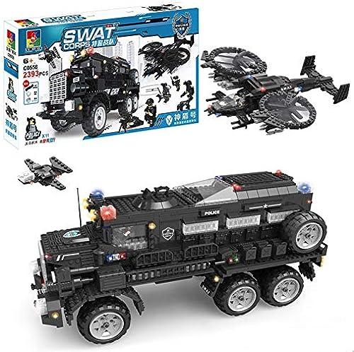 Yyz Polizei-Serie SWAT Shield Anti-Riot-Panzerwagen montiert Bausteine  inder p gogisches Spielzeug Geburtstagsgeschenk