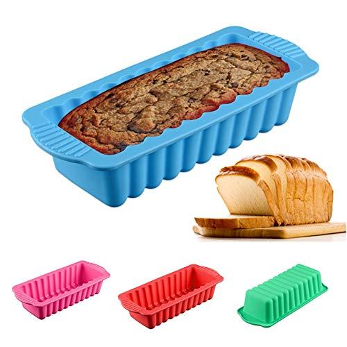 CMAKOKL 1 Packung Silikon rechteckig Brot-Kuchen-Form, Gebäck Werkzeuge Patisserie-Kuchen-Werkzeug - zufällige Farbe (Farbe : Random Color)