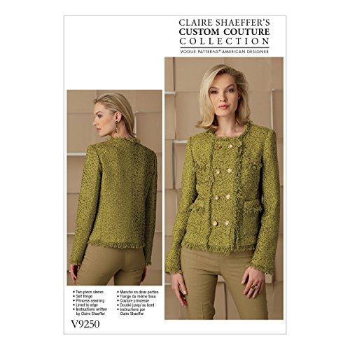Vogue Mustern Schnittmuster Jacke, Mehrfarbig, Größen 6–14