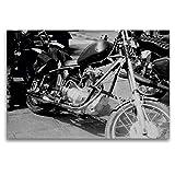 Premium Textil-Leinwand 120 x 80 cm Quer-Format Touren Chopper - AWO Umbau in der DDR | Wandbild, HD-Bild auf Keilrahmen, Fertigbild auf hochwertigem Vlies,...