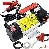 VEVOR Bomba de Aceite Automática, 175 W Bomba de Transferencia Eléctrica Diesel, 45 L/min Bomba de Succión de Aceite, 3.600 RPM Bombas de Combustible Portátiles con Medidor de Flujo Preciso