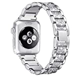 Myada Cinturino per Apple Watch 38mm Acciaio, Cinturino Apple Watch Series 4 40mm Braccialetto di Ricambio in Acciaio Inossidabile Orologio da Polso Band Donna per iWatch Series 4/3/2/1 - Argent