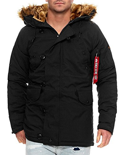 Alpha Industries Explorer N3B Winterparka – Schwarz, XXL