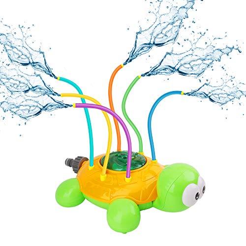 Ulikey Sprinkler Kinder Spielzeug, Wassersprinkler Spielzeug, Schildkröte Design Sommer Garten Wasserspielzeug Kinderspielzeug Draußen Gartensprinkler Wasserspiel für Outdoor Familie Aktivitäten