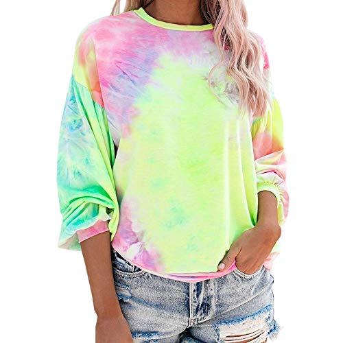 Hoodie Sweatshirt Krawatte Dyedcrewneck Sweatshirt Bunte Frauen Pullover Sweatshirts Casual Streetwear Hip Hop Übergroße Hoodie Harajuku Sweatshirt Asiansizexxl Grün