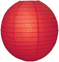 Kala Decorators 16 inch (41 cm *41 cm) Red Hanging Paper Lantern(1 Pc) Paper Ball Lamp Shade for Diwali, Party,Decoration