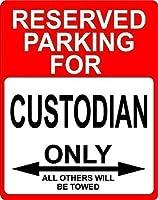 165グレートティンサインカストディアン職業予約駐車場のみその他アルミメタルサイン壁装飾12x8インチ