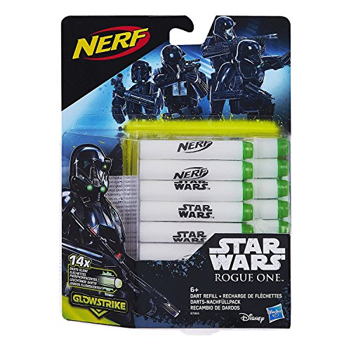 Hasbro Star Wars - B7865EU4 - Rogue One Glow-in-the-Dark 14er Darts Nachfüllpack