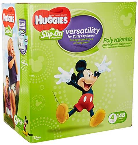 Product Image of the Huggies Little Movers Slip-On Diaper Pants, Size 4, 148 Ct