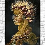 ZNNHEROFuego (1) De Giuseppe Arcimboldo Póster Abstracto Impreso Lienzo Pintura Cuadro De Arte De Pared para Sala De Estar Decoración del Hogar-60X80Cmx1 Sin Marco