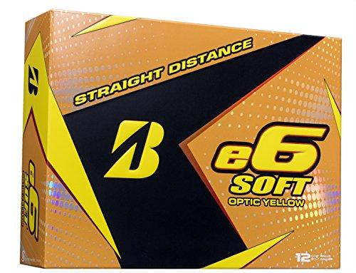 BRIDGESTONE GOLF e6 SOFT Golf Balls, Yellow, Soft, Colored Golf Balls (Dozen Golf Balls)