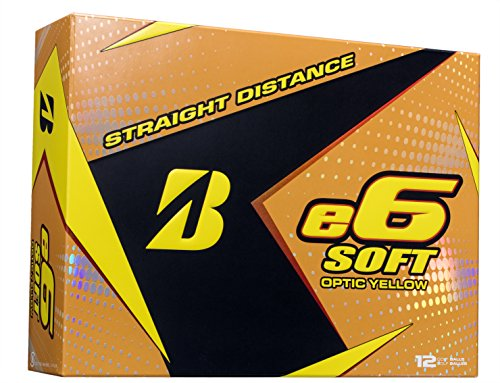 BRIDGESTONE GOLF e6 SOFT Golf Balls, Yellow, Soft, Colored Golf Balls...