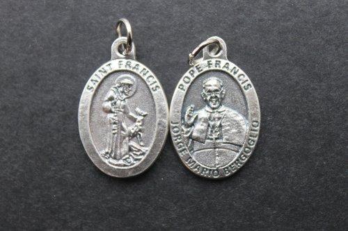 1,91 cm San St Papa Francisco medalla adorno colgante, cadena y caja