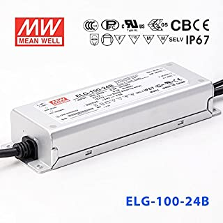 Meanwell ELG-100-24B Power Supply - 100W 24V 4.0A -Dimmable - IP67