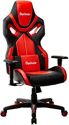XUERUI 快適 E-スポーツチェアコンピュータチェアゲームチェアレーシングシート人間工学に基づいたコンピュータチェアリクライニングランチブレイク 耐久性のある (色 : Red)
