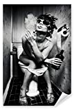 Postereck - 0423 - Party Girl, Schwarz Weiß - Poster 21.0