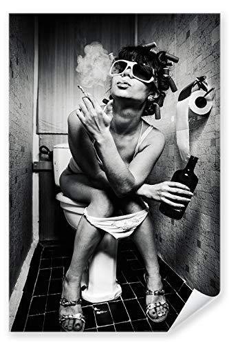 Postereck - 0423 - Party Girl, Schwarz Weiß - Poster 21.0 cm x 29.7 cm DIN A4