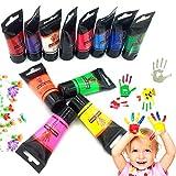 OCEANO12×30ml Botes Pintura de Dedos para niños, Pintura de Dedos,Lavable Pinturas para niños no tóxicas, de Color Natural y ecológico