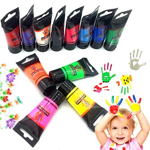 OCEANO12 Botes Pintura de Dedos para niños, Pintura de Dedos,Lavable Pinturas para niños no tóxicas, de Color Natural y ecológico
