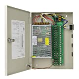 Ares Vision 18 Channel/Port 20 AMPS, 12V DC Power Supply Box, Individually Fused for CCTV, LED, and All 12v DC Devices.