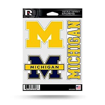 NCAA Michigan Wolverines Die Cut 3-Piece Triple Spirit Sticker Sheet