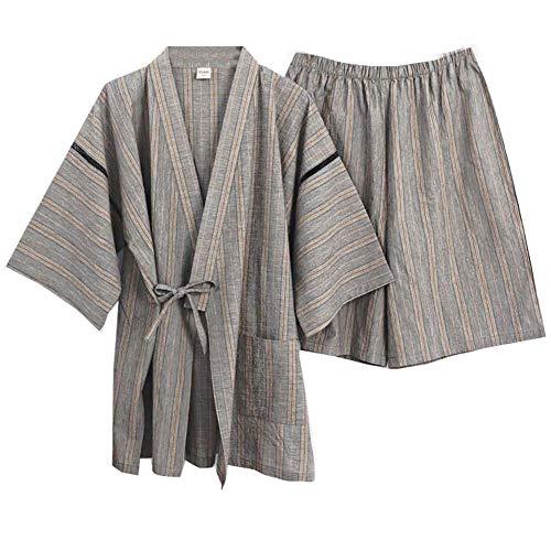 Traje de Pijama de Estilo japonés Kimono de los Hombres del Verano Vestido de tamaño XL