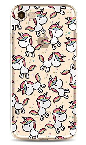Phone Kandy - Carcasa de silicona TPU con diseño de unicornio, color transparente