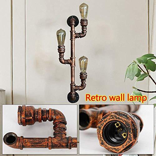Lámpara de Pared de tubería de Agua Metal 3 Head Lámpara de...