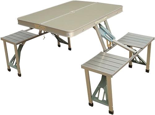 el más barato Folding table table table LVZAIXI Mesa Plegable al Aire Libre Mesa de exposición de aleación de Aluminio portátil al Aire Libre Mesa de Picnic Mesa de Aprendizaje Escritorio Simple (Color   Beige)  venta con alto descuento