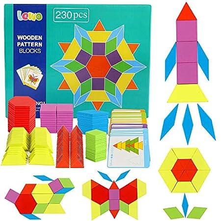 Lewo 230 Teilig Holzpuzzles Geometrische Formen