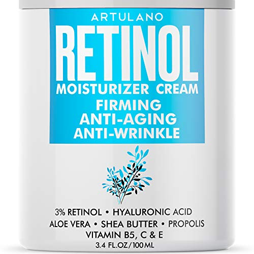 Retinol Cream for Face - Anti-Aging Cream for Women & Men - Day & Night Cream with Firming Effect - Perfect Wrinkle Cream for Face & Neck, 3.4 oz