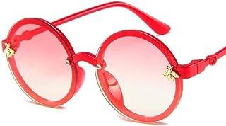 DLSM - Gafas de Sol de Moda para niños Gafas de Sol de Abeja de Dibujos Animados Gafas Lindas de bebé Gafas Redondas de gradiente Lentes graduadas Gafas para niños Niñas