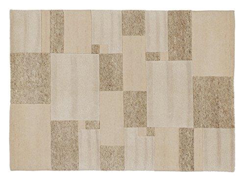PERSEUS ALLOVER handgeknüpfter Nepal Teppich Wolle in braun-mix, Größe: 120x180 cm
