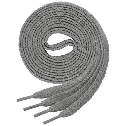 Lenzen 3 Paar flache Schnürsenkel für Sneaker und Sportschuhe I Aus extrem reißfestem Polyester (90 cm, 4-5 Lochpaare, pampas)
