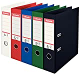 Esselte A4 75 mm Power Lever Arch File - Assorted Colour, Pack of 10...
