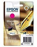 Epson C13T16234012 - Cartucho de tóner adecuado para WF2010, color magenta, paquete estándar válido para los modelos WorkForce WF-2530WF, WF-2540WF y otros
