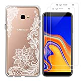 crisant Samsung Galaxy J4 Plus Case White flower Premium