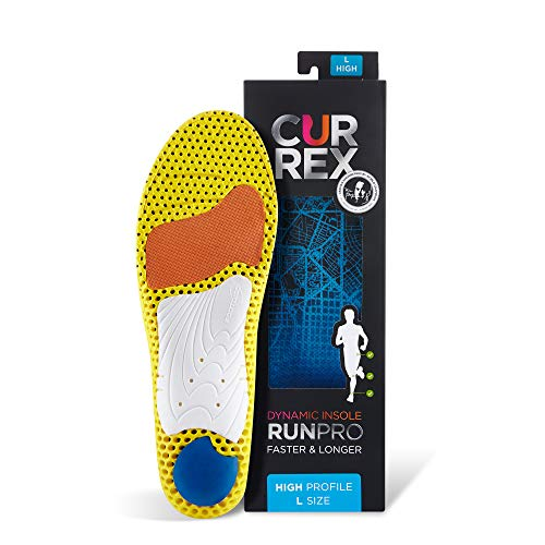 CURREX RunPro Sohle – Entdecke Deine Einlage für eine neue Dimension des Laufens, Dynamische Einlegesohle, Blau- High Profile Gr.- EU 39.5-41.5/ M