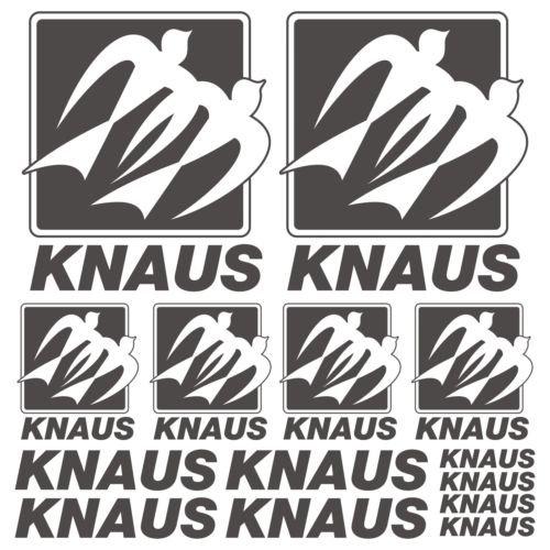 SUPERSTICKI Knaus Old XL Decal Wohnwagen Mobile Home Sticker 14 Pieces aus Hochleistungsfolie Aufkleber Autoaufkleber Tuningaufkleber