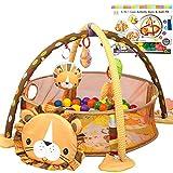 CX TECH Baby Crawl Playmat Neugeborene Activity Gym Abnehmbar, Mitnehmmuster Animal Style Cute Style Activity Blankets geeignet von Geburt an für 0 Monate +